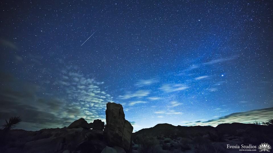 The 2013 Geminids Meteor Shower over Joshua Tree