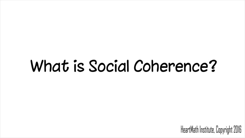 What is Social Coherence?